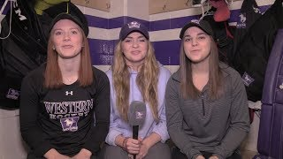 Meet the Mustangs   Women's Hockey's April Clark, Tareya Webster, and Cat O'Connor