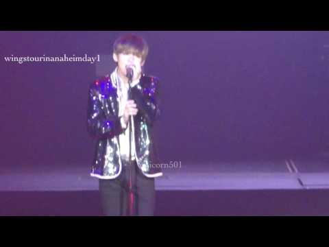 170401 BTS Anaheim day1 taehyung   solo STIGMA
