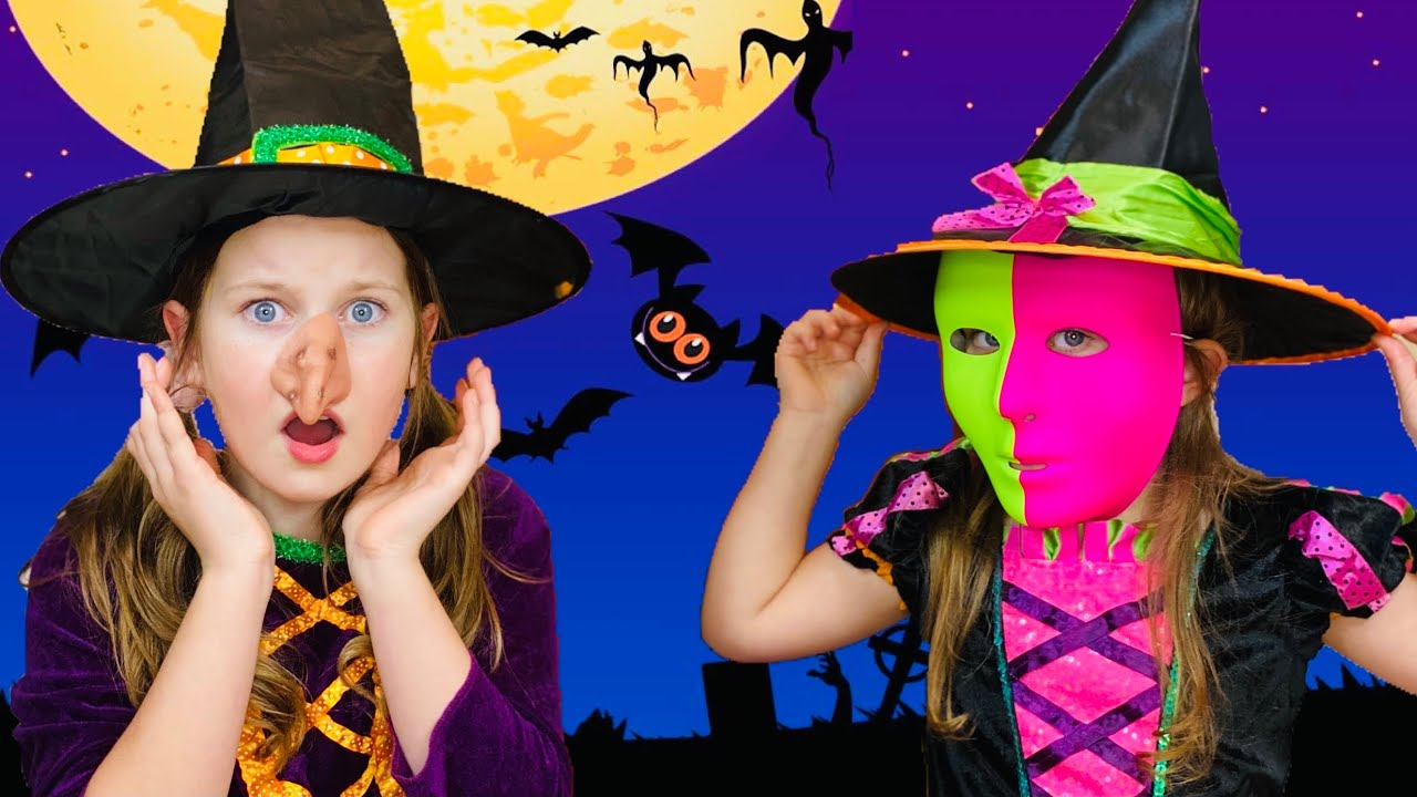 Sisters and Magical 🧙♀️ Trick or Treating Adventures on 🎃 Halloween 👻