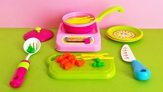 Soup Cooking Kitchen Playset - Playdoh Vegetable Soup Carrot Peas And Pasta