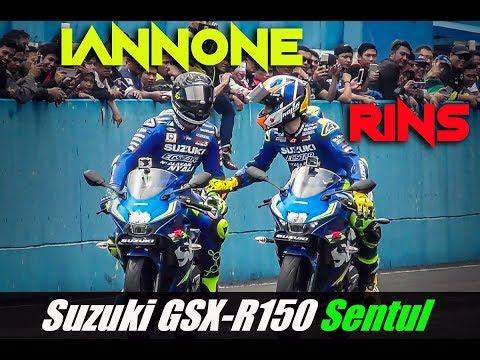 Andrea Iannone test ride Suzuki GSX-R150 Sentul Indonesia | Burn out cak !