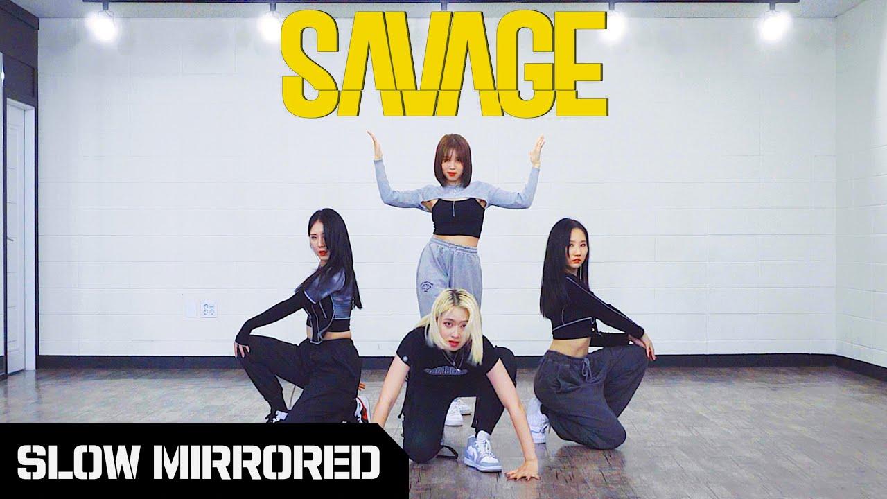 [SLOW] aespa 에스파 'Savage' | 커버댄스 DANCE COVER | 안무 배우기 느리게 거울모드 SLOW MIRROR MODE