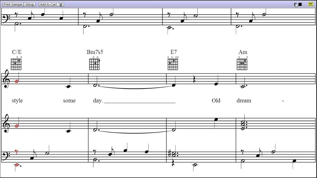 Moon river piano sheet music youtube for Garage aggiunta piani 2 piani