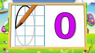 Bé học viết số ❤ Bé tập viết số 0 đến 9 ❤ có ô ly