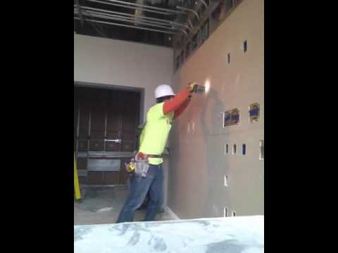 Cutting drywall with rotozip hospital room oxygen boxes