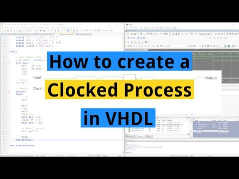How to create a Clocked Process in VHDL