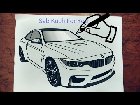 1 How To Draw Sports Car Bmw M4 Step By Step Easily