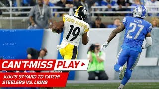 JuJu Smith-Schuster Blasts Off for 97-Yd Catch-'n-Run TD! | Can't-Miss Play | NFL Wk 8 Highlights