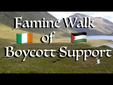 Famine Walk Of Boycott Support