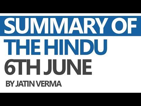 (Hindi) The Hindu - Daily News Analysis for 6th June 2017