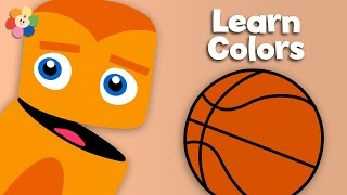Orange Juice, Pumpkins and Basketballs | Learn the Colors | Color Crew | BabyFirst TV