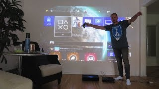 PS4 gaming TEST - Xiaomi WEMAX ONE MJJGYY01FM 📽 Laser Projector