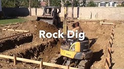 Rancho Cucamonga CA, Swimming Pool Excavation with Rocks