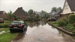 Wateroverlast Drouwen, 13 mei 2018