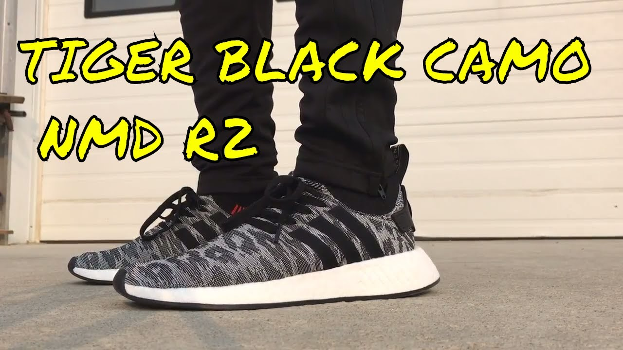 20f64722c5f TIGER BLACK CAMO ADIDAS NMD R2 REVIEW + ON FEET - YouTube