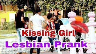 Lesbian Prank on Girls  Funny Video  Guwahati Prank Star