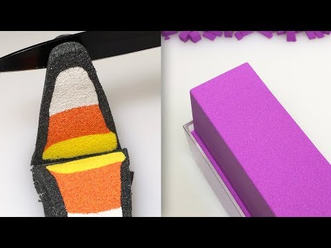 Very Satisfying Video Compilation 86 Kinetic Sand Cutting ASMR