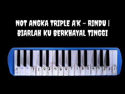 Not Pianika Triple A K Rindu Disaat Ku Merindukanmu Youtube