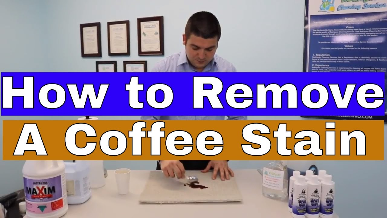 How To remove a Coffee Stain from your Carpets? - YouTube