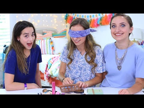 Blindfolded Makeup Challenge with Brooklyn and Bailey | Annie LeBlanc