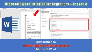 How To Type Your First Letter in Microsoft Word 2019 Tutorial - Lesson 3 | The Teacher