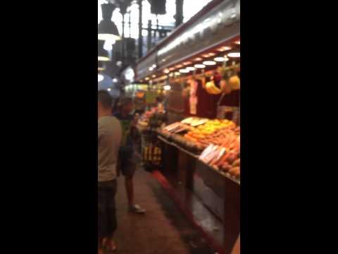 La Rumbla Barcelona fresh food market Spain