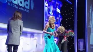 Ellen Page has a surprise for Laverne Cox at the #glaadawards