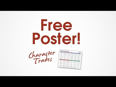 Free Poster / List of Character Traits for Children / Character education resource for students