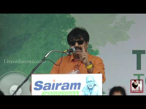 Actor Vivek Speech Sri Sairam Engineering College  Tree Plant & Green Kalam
