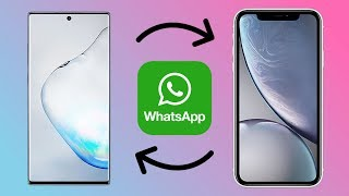 How To Transfer Whatsapp Messages Chats and Files Between Android and iPhone!