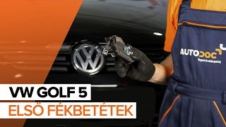 Nézze meg az VW Fékbetét készlet hibaelhárításról szóló video útmutatónkat