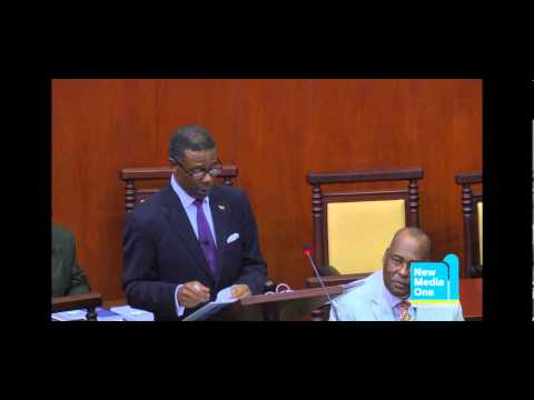 Hon. Harold Lovell presented the 2013 Budget Statement Part 4