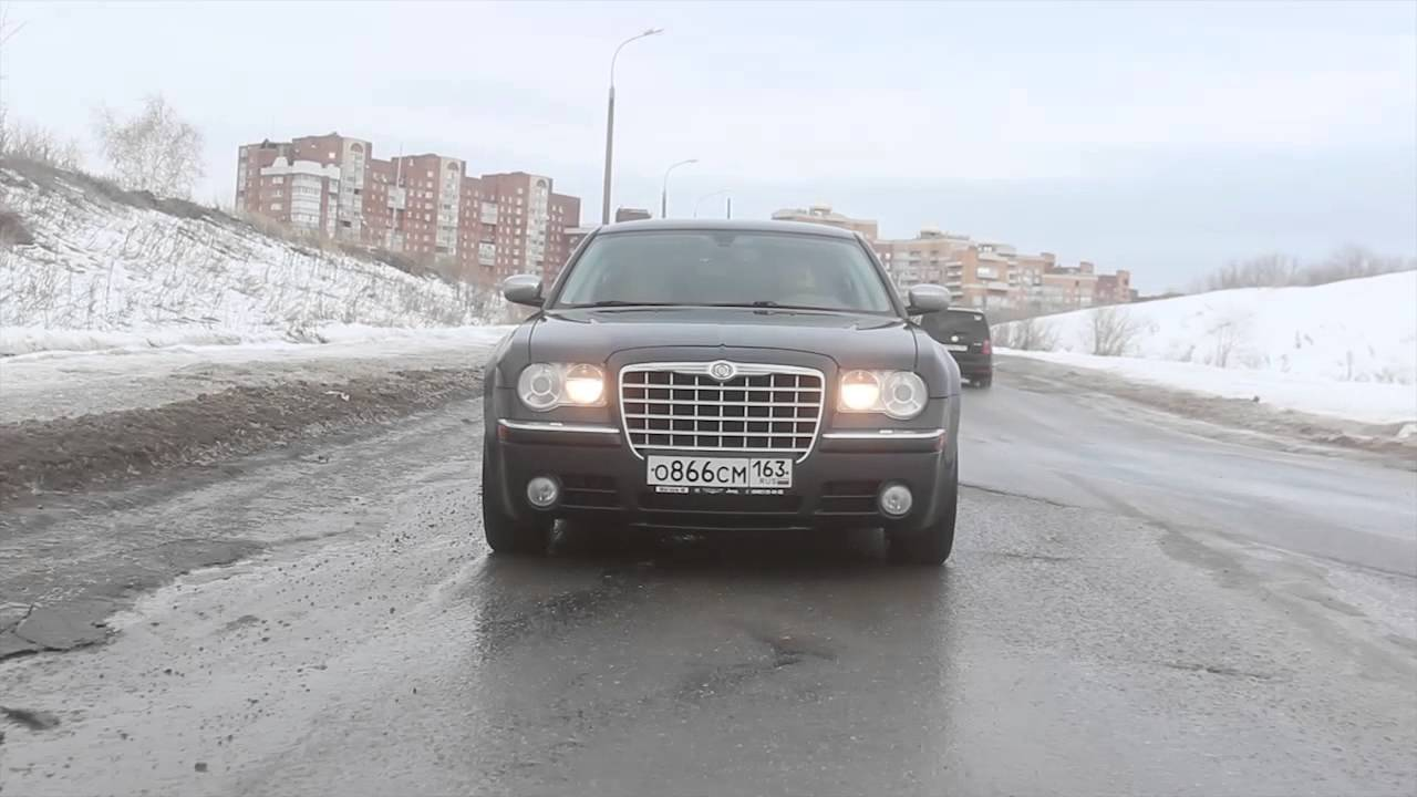 Chrysler 300C 3.5 Расход в городском режиме - YouTube