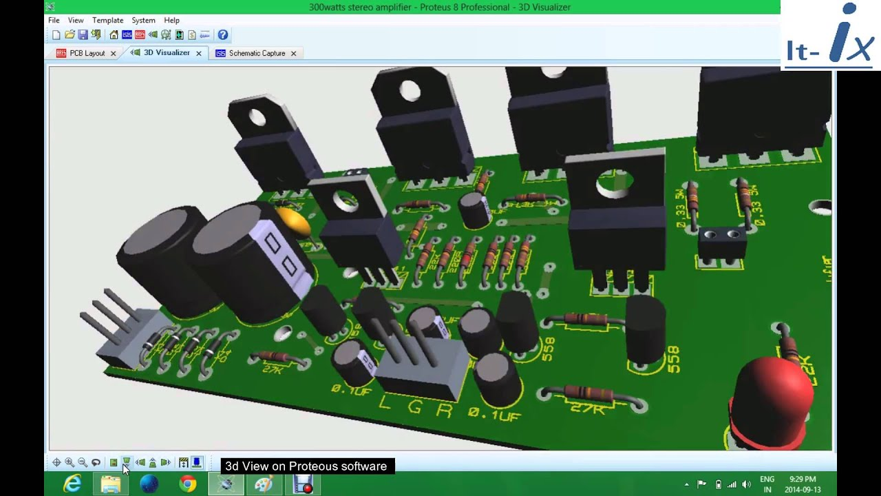 300watts Stereo Amplifier Based On Tip142 Tip 147 Power Transistors Schematic 100w With Pcb Circuit