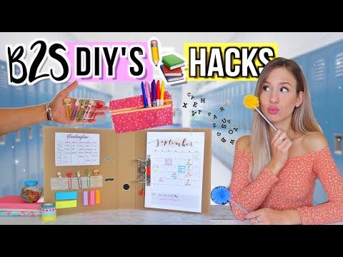 BACK TO SCHOOL DIY's + HACKS 2019 ✏️👀Do It Yourself Für Back To School Deutsch