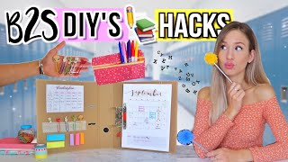 BACK TO SCHOOL DIY's + HACKS 2019 ✏️👀Do It Yourself für Back To School Deutsch