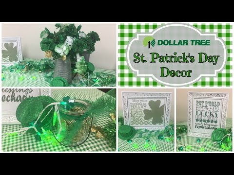 DOLLAR TREE St. Patrick's Day Decor Ideas | How I Decorated the Office Work Space thumbnail