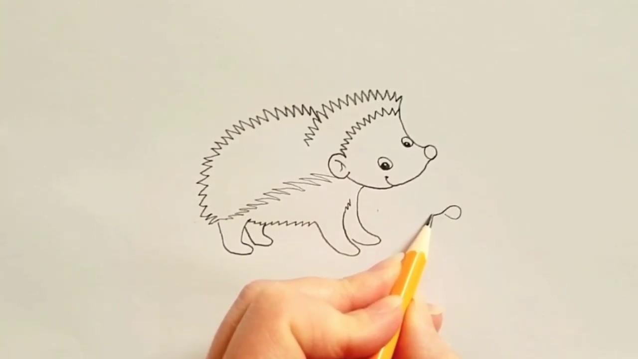 Kirpi nasıl çizilir?/How to draw a hedgehog? 🦔 🦔 🦔