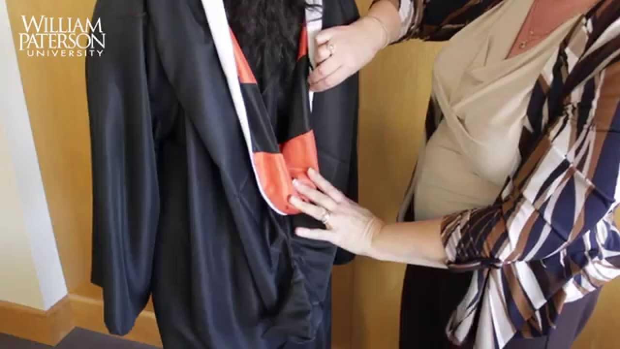 How To Properly Wear A Graduation Hood Youtube