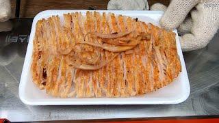 한국 길거리 음식 | 버터 오징어 구이 | 대구 서문시…