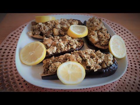 aubergines-farcies-au-poulet-diététique-facile-et-délicieuse-❤❤❤🌹🌹🌹🌹🌹🌹🌹