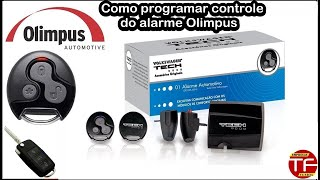 Programação do controle do alarme Olimpus Vw Tech e Padlock