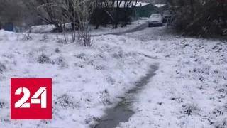 Зима вернулась в Мурманск в июне