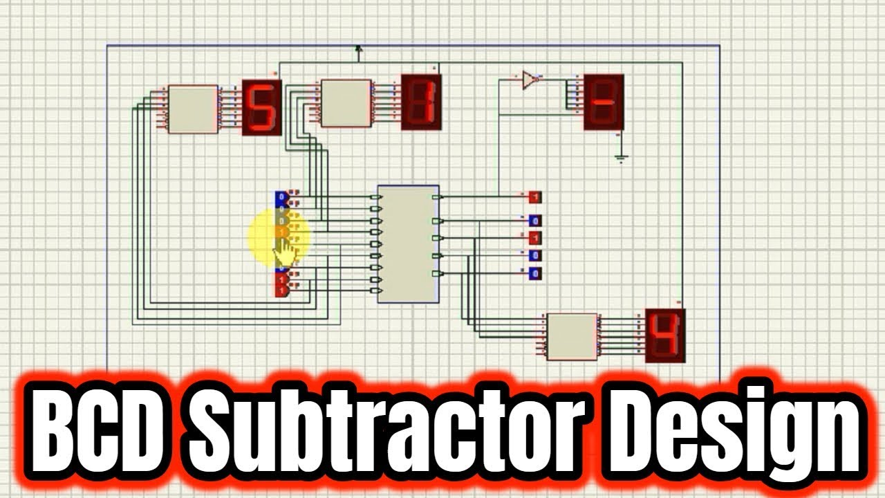 small resolution of how to design 4 bit bcd subtractor by proteus tutorial 02 mp4