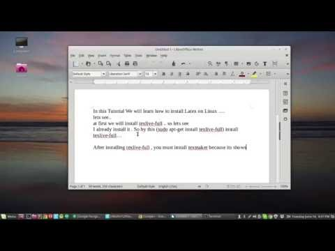 How to Install Latex on Linux Mint..