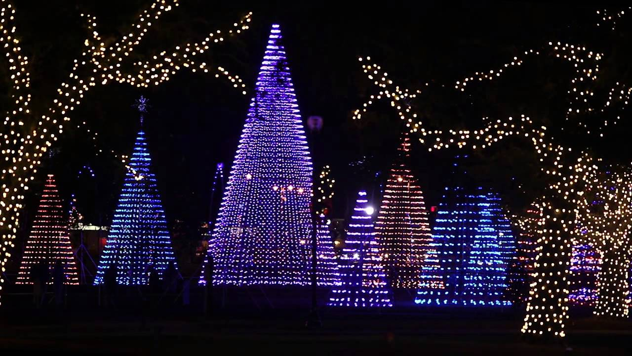 gulfports holiday lights festival brings dazzling color to jones park youtube
