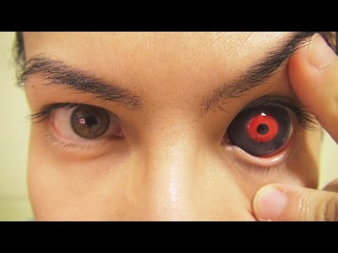 How to: Insert And Remove Tokyo Ghoul Sclera Contact Lens (Fxeyes)