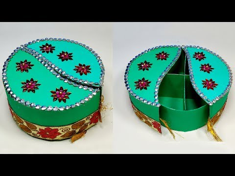 How to Make Very Beautiful Paper Gift Box | DIY Box | Jewelry Box | Jarine's Crafty Creation