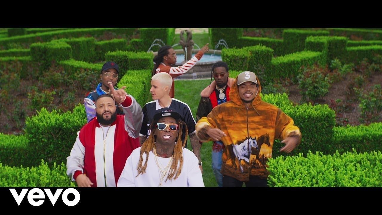 Dj khaled's 'i'm the one' single feat. Lil wayne, quavo, chance.