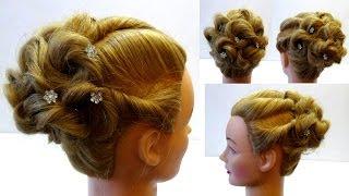 Свадебная прическа на средние волосы. Прическа на выпускной. Wedding hairstyle.Peinados(, 2014-04-19T08:28:04.000Z)